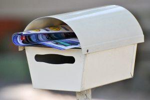 A white mailbox.