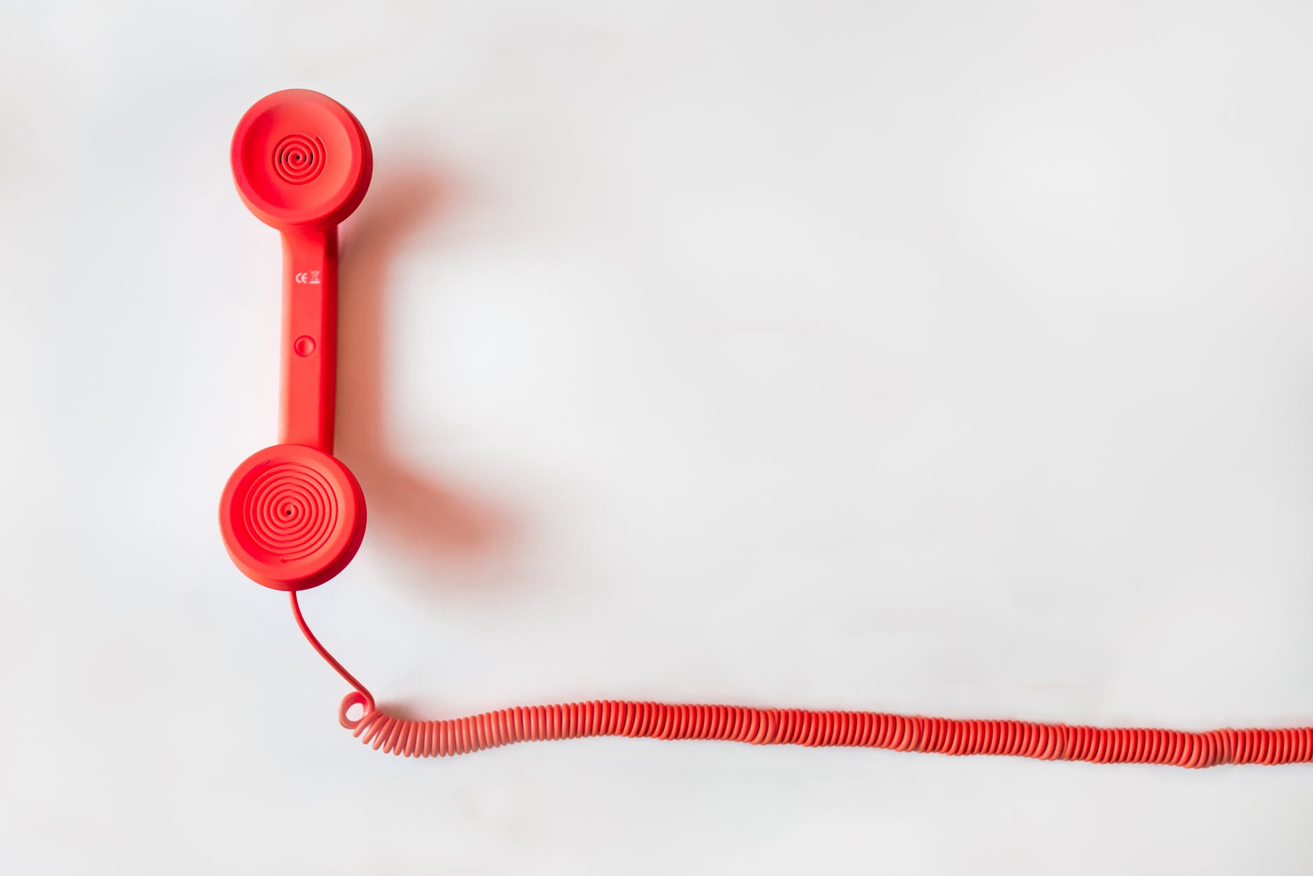 Phone speaker on white background.