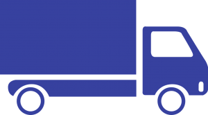 A graphic of a moving truck