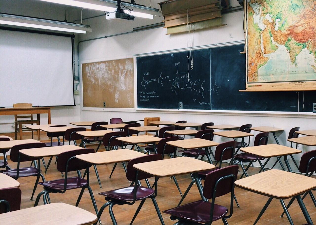 A classroom at school
