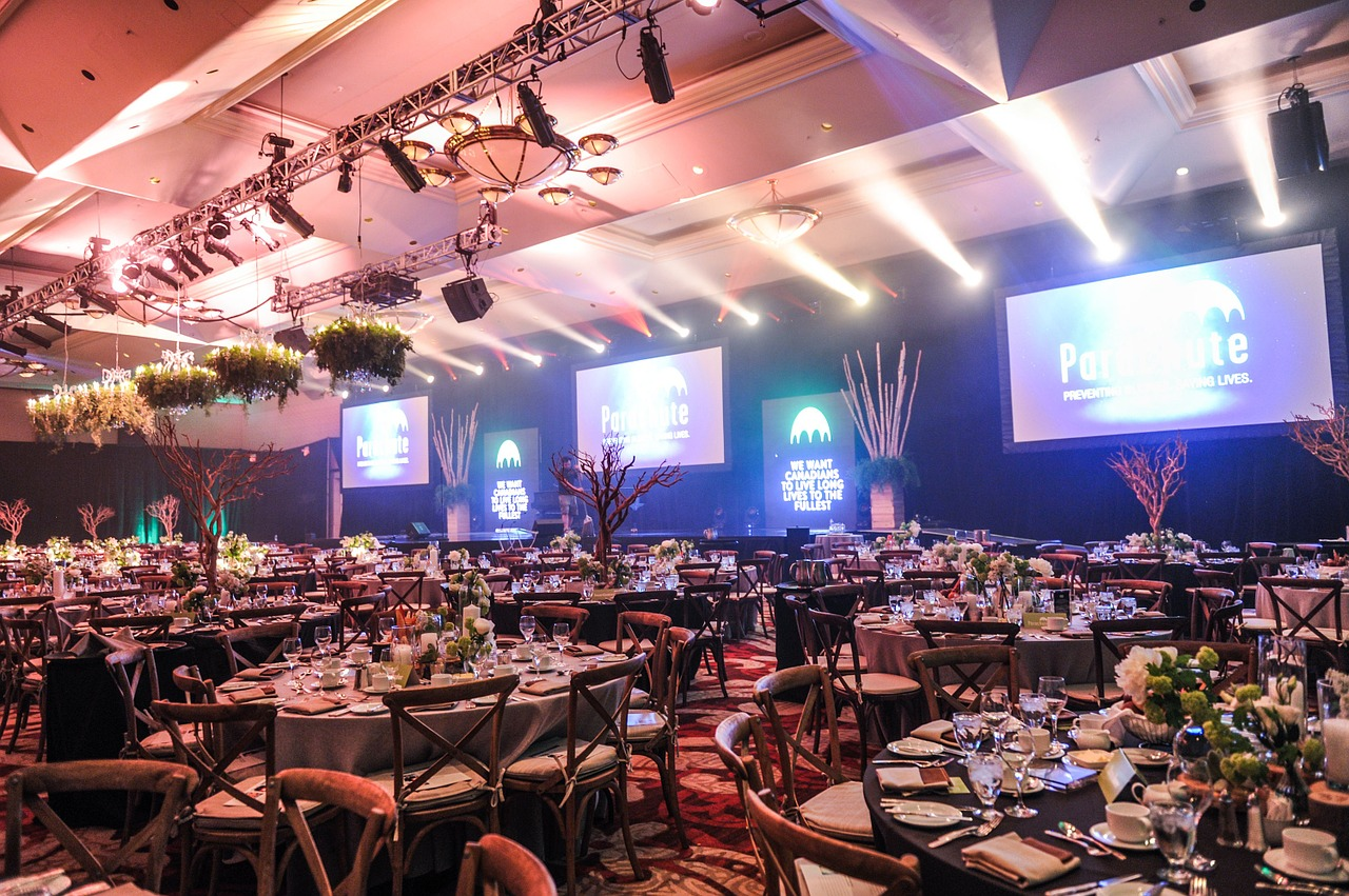 event setup - tables and chairs