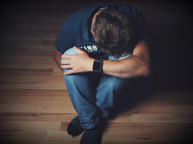 A sad man