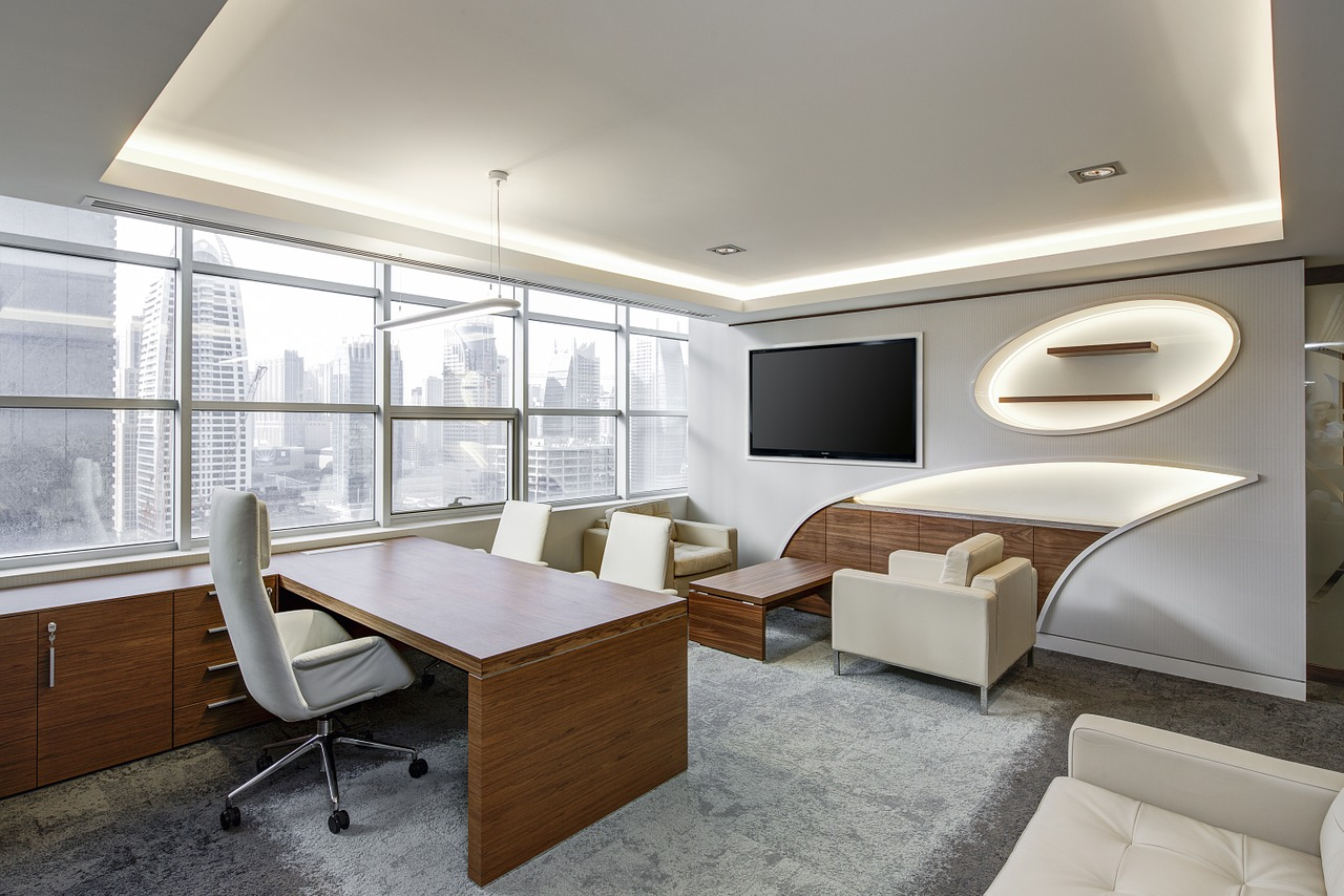 A white office