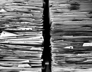 papers in storage