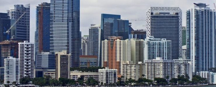 look at Miami downtown full of commercial storage Miami