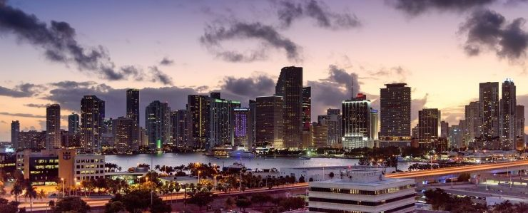 An aerial view of Miami.