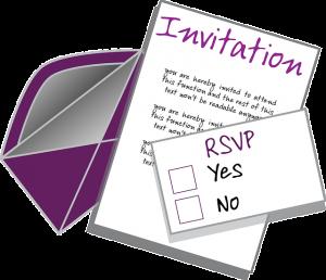 invitation with RSVP