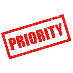 sign for priority