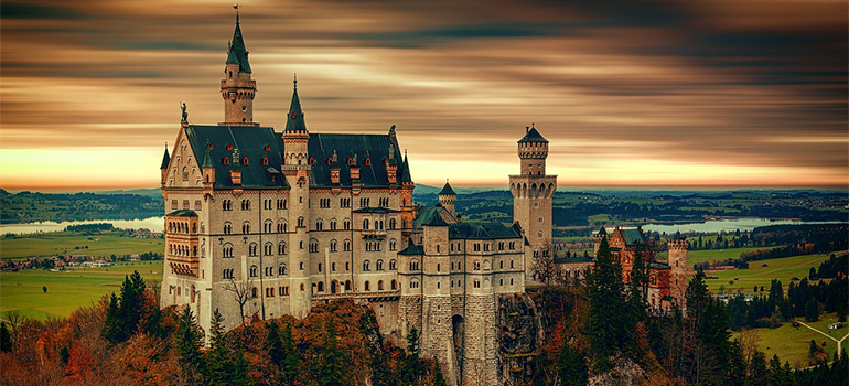 A castle somewhere in Europe