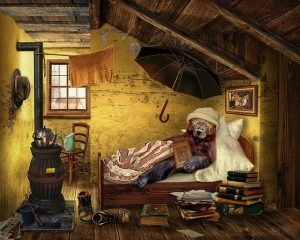 attic transformation ideas - man's cave