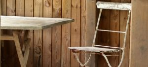 wooden garden furniture as one of the items that require climate controlled storage units