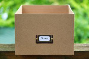 Sturdy cardboard box