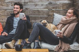 Bring your dog along on a coffee date with friends