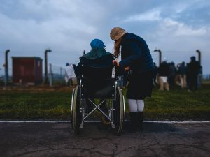 moving with disabilities with help from a friend