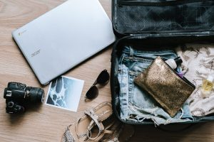 Packing tips for moving overseas in your black suitcase