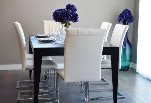 The dining room is part of our clothes storage ideas