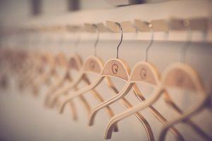 Empty coat hangers