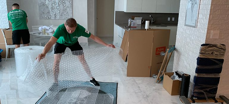 Our mover handling items for your relocation.