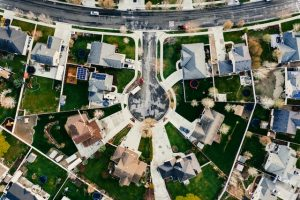 Aerial view of a neighborhood where you will meet your new neighbors in Palm Beach County
