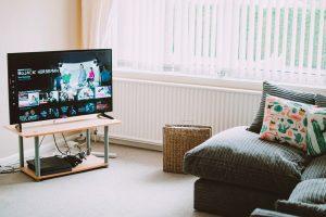 flat screen tv in a living room