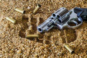 a gun with bullets