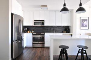 Modern kitchen with appliances