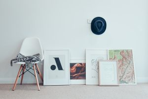 set up paintings in your home