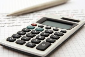 a white calculator