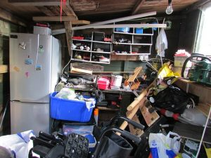 A heavily cluttered space
