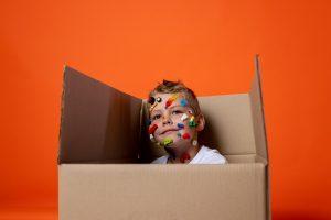 A boy in a box