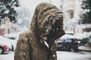 Person in winter jacket