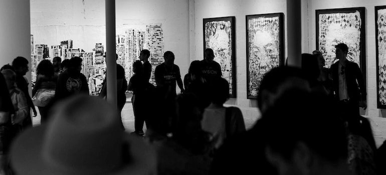 people in a gallery