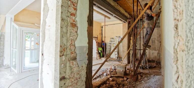 people working during Boca Raton home renovation