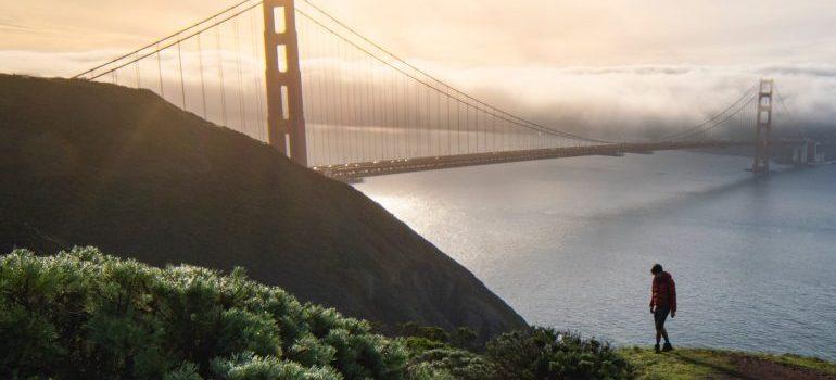 Golden Gate bridge - moving from Miami to California