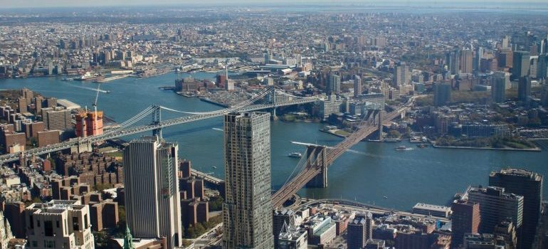 An areal view of NYC - Moving to New York from Florida