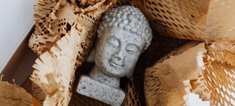 a stone figurine