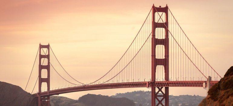 The Goldengate Bridge at dusk.