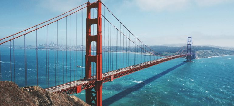 The Golden Gate Bridge - moving from Florida to California