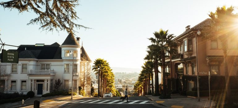 Residential area in San Francisco, CA