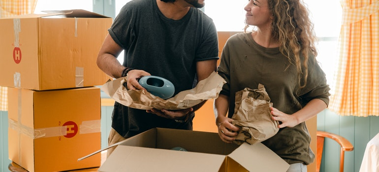 Moving services to make your life easier include packing. Professional packers are excellent at what they do and they will protect your belongings