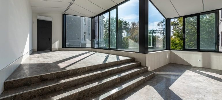 A view of an empty house from the inside representing the benefits of living in Parkland, FL