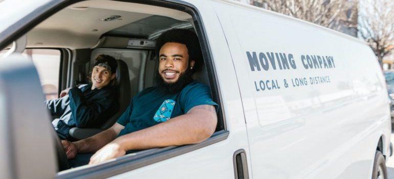 Movers in a van