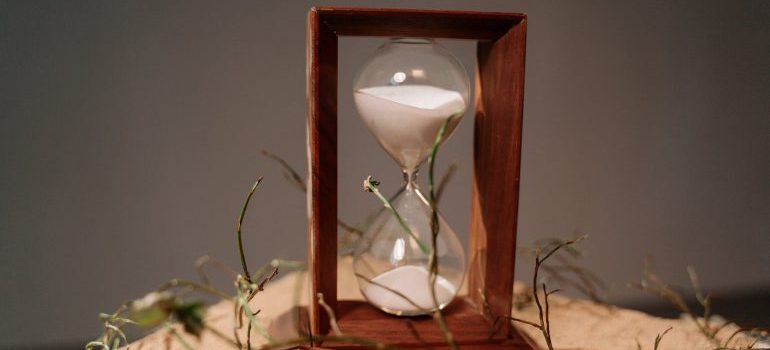 Brown wooden hour glass