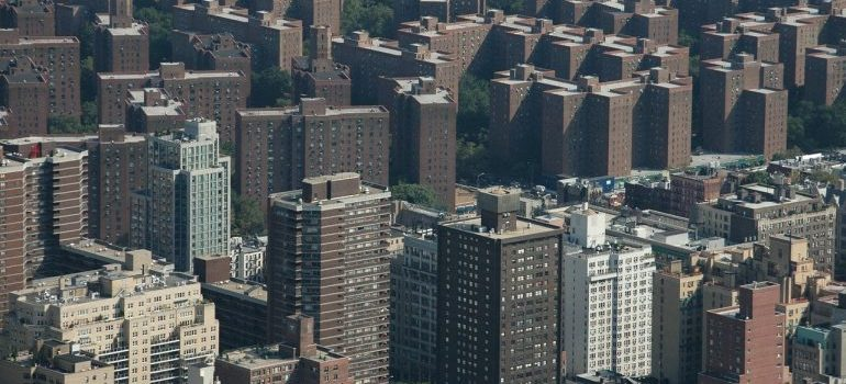 An aerial view of part of the Bronx
